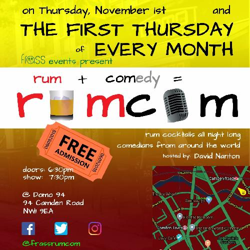 Rum-Com Camden Comedy - Wednesday show