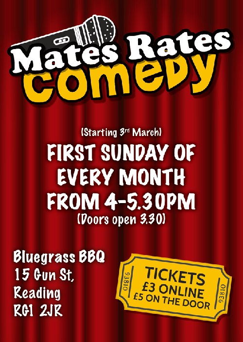 Mates Rates Comedy **Please read below guidance**