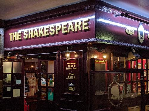 Global Comedy @Shakespeares pub Sunday