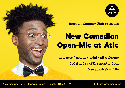 New Comedian Open Mic at Atic, 17th Feb 2019
