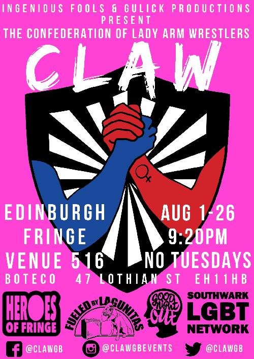 CLAW: The Confederation of Lady Arm Wrestlers @ Edinburgh Fringe