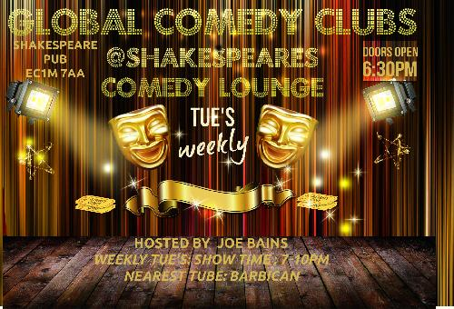Global Comedy @Shakespeares Comedy Lounge